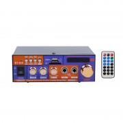 Amplificator Audio cu Bluetooth și Telecomandă BT-618 OEM, 2 x 20 W RMS, USB, MicroSD, Radio, Display