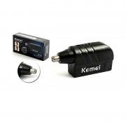 Aparat de Tuns Păr din Nas şi Urechi Nose, Ear & Facial Trimmer Kemei, Baterie Tip AA, Negru