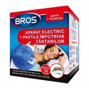 Aparat Electric anti Țânțari Bros, Aparat Vaporizator + 10 Pastile, 10 Ore