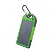 Baterie Externă cu Încărcare Solară Solar Travel Power Bank Forever, 5000 mAh, 2x USB, Lanternă, Diverse Culori