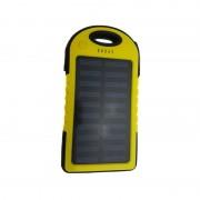 Baterie Externă cu Încărcare Solară Solar Charger Power Bank, 6000 mAh, 2x USB, Lanternă 12 LED-uri, Diverse Culori
