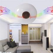 Bec LED cu Telecomandă, Boxă Bluetooth și Lumini LMB, Multicolor RGB, Muzică Disco, Soclu E27