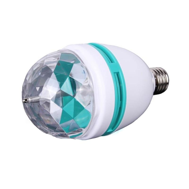Bec tip Disco Rotativ Multicolor cu LED, Proiector, 3W, Soclu E27