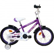 """Bicicletă pentru Copii cu Roți Ajutătoare Jolly Kids, 4-6 ani, Roată 16"""", Oțel, Diverse Culori"""