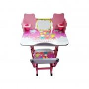 Birou cu Scăunel pentru Copii Jolly Kids, 3-10 ani, Înălțime Reglabilă, Fete / Băieți