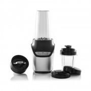 Blender 2 în 1 Nutrition Extractor Hausberg Diamonds, 1000 W, 2 Viteze, Accesorii incluse, Negru/Gri