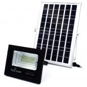 Proiector cu Panou Solar și Telecomandă CCLAMP, 50 W, 40 LED-uri, Temporizator, Aluminiu, IP67, Negru