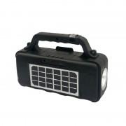 Boxă cu Lanternă Solar Music CCLAMP, Încărcare Solară, Radio, USB, Bluetooth, Negru