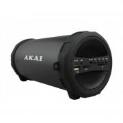 Boxă Portabilă Bluetooth Akai, 5W, Radio FM, Karaoke, Acumulator Reîncărcabil 1000 mAh, Negru