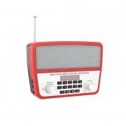 Boxă Portabilă Bluetooth cu Lumini, Radio, Display şi Microfon, 3 W, USB, Baterie Reîncărcabilă, LED, Diverse Culori