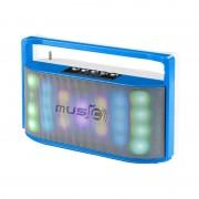 Boxă Portabilă Bluetooth Wster, Lumini, Radio şi Microfon, 2 x 3 W RMS, USB, Baterie Reîncărcabilă, LED, Diverse Culori