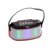 Boxă Portabilă Bluetooth cu Lumini, Radio şi Microfon, 3 W RMS, USB, Baterie Reîncărcabilă, LED, Curea, Diverse Culori