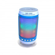Boxă Portabilă Bluetooth Speaker Wster, Lumini, Radio şi Microfon, 3 W, USB, Baterie Reîncărcabilă, LED, Diverse Culori