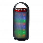 Boxă Portabilă Bluetooth Speaker cu Lumini, Radio şi Microfon, 3 W RMS, USB, Baterie Reîncărcabilă, LED, Diverse Culori