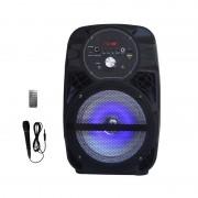 Boxă Portabilă Karaoke cu Microfon cu Fir AiLiang LIGE-A66, 15W RMS, Bluetooth, Telecomandă, Acumulator