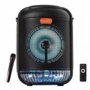 Boxă Portabilă Karaoke cu Microfon fără Fir Smart Bass, 100 W, Bluetooth, Telecomandă, Acumulator