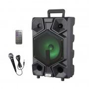 Boxă Portabilă Karaoke cu Microfon cu Fir AiLiang LIGE-A82, 15W RMS, Bluetooth, Telecomandă, Acumulator