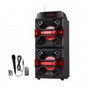 Boxă Portabilă cu Lumini, Bluetooth, Radio şi Microfon AI-3522 AiLiang, 10 W Stereo, USB şi Card, Baterie, Telecomandă