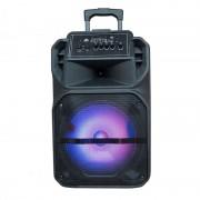 Boxă Portabilă tip Troler cu Microfon și Telecomandă LiGE 1722, 25 W RMS, USB, Lumini Disco LED, Acumulator