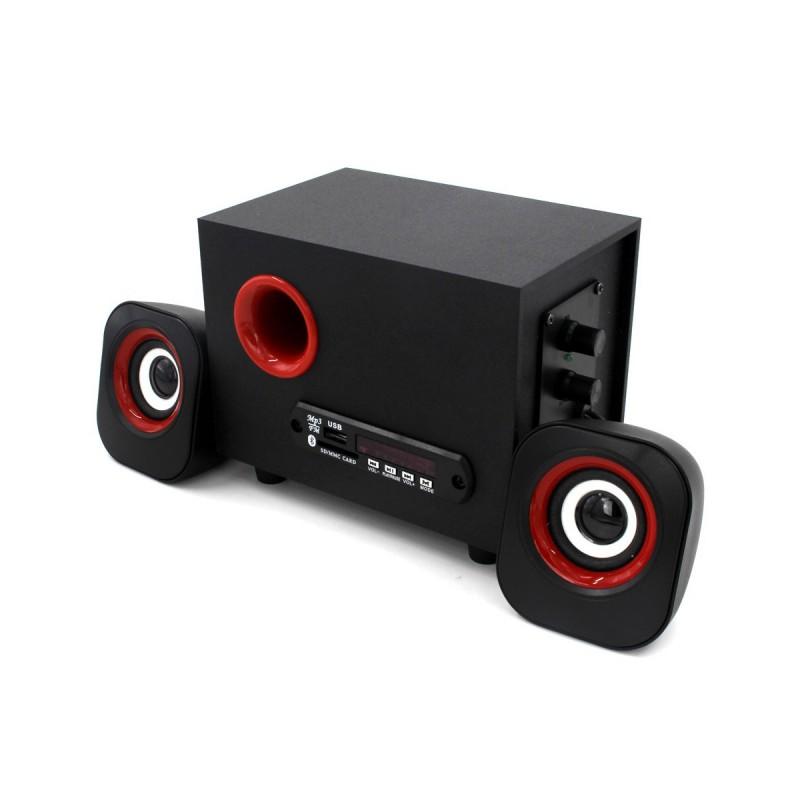 Boxe Mini 2.1 USB FnT, 11W RMS, Bluetooth, MP3 USB şi microSD Player, Radio, Jack Input, Alimentare USB, Telecomandă, Negru