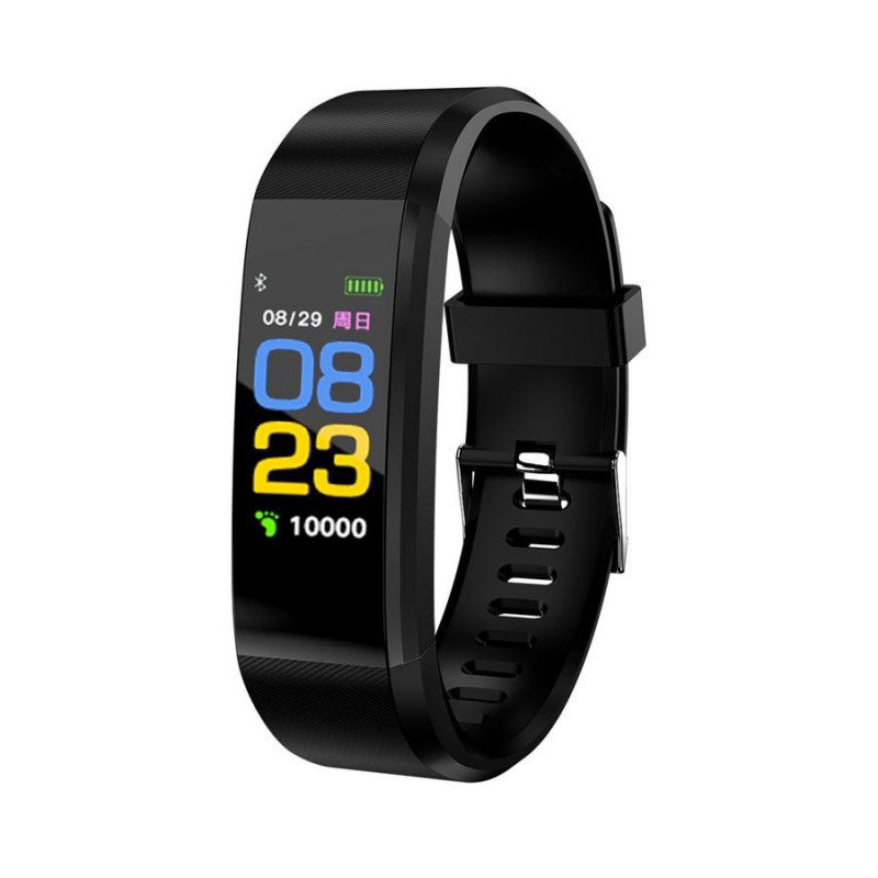 "Brățară Fitness Smart Band, Ecran 0.96"" Color, Pedometru, Puls, Alarmă, iPhone și Android, Diverse Culori"
