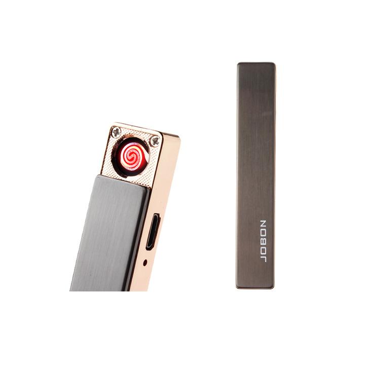 Brichetă Electronică Metalică Elegance Jobon, Încărcare USB, Cutie Cadou, Diverse Culori