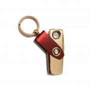 Brichetă Electronică Metalică tip Breloc Key Jobon, Încărcare USB, 2 Rezerve, Cutie Cadou, Diverse Culori