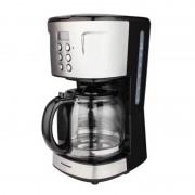 Cafetieră Digitală pentru Cafea Heinner, 900 W, 1.5 Litri, LCD, Timer, Filtru Lavabil, Oprire Automată, Negru/Inox