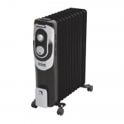 Calorifer Electric cu 11 Elemenţi Hausberg, 2500 W, 2 Nivele Încălzire, Termostat reglabil, Protecţie supraîncălzire