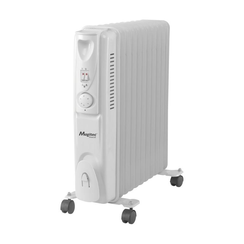 Calorifer Electric cu 11 Elemenţi Magitec, 2500 W, 3 Nivele Încălzire, Termostat reglabil, Protecţie supraîncălzire