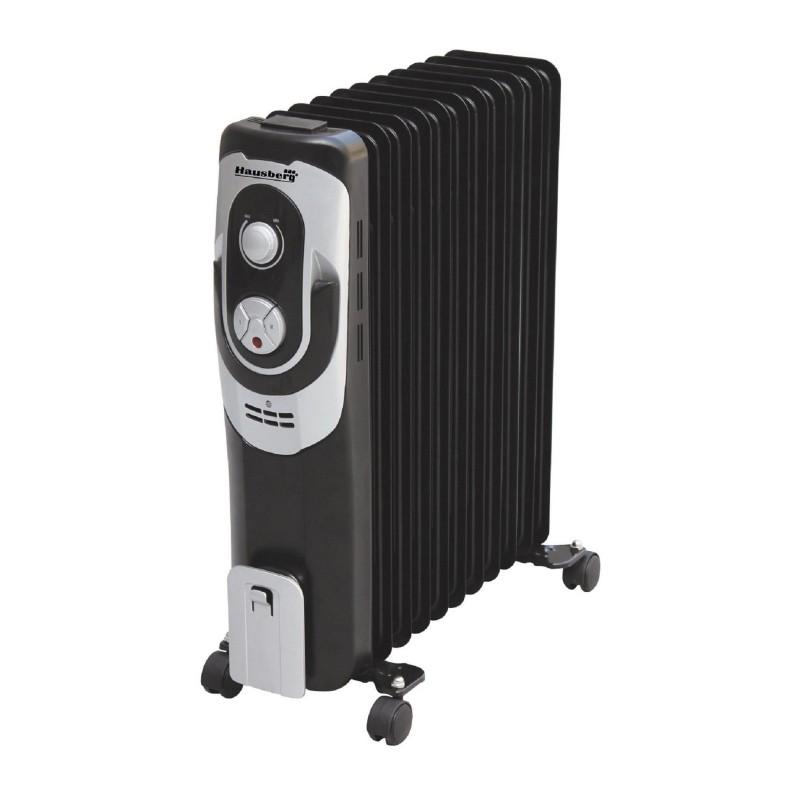 Calorifer Electric cu 7 Elemenţi Hausberg, 1500 W, 2 Nivele Încălzire, Termostat reglabil, Protecţie supraîncălzire