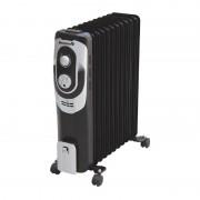 Calorifer Electric cu 9 Elemenţi Hausberg, 2000 W, 2 Nivele Încălzire, Termostat reglabil, Protecţie supraîncălzire