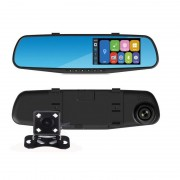 Cameră Auto DVR pe Oglinda Retrovizoare VB-DVR, Camere Fața și Spate, Full HD 1080p, Senzor G