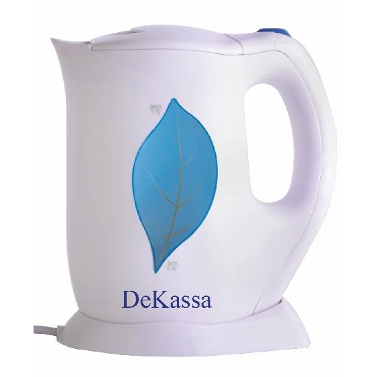 Cană Fierbător Electrică DeKassa, 1.7 Litri, 2000 W, Alb