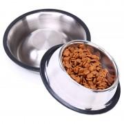 Castron pentru Hrana Animalelor de Companie Grunberg, 450 ml, Suport Cauciuc Antialunecare, Inox