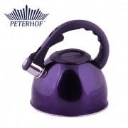 Ceainic cu fluier Peterhof, 2.5 Litri, Inox, Fund 3 Straturi, Diverse Culori