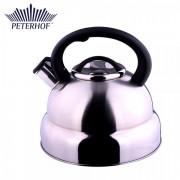Ceainic din Inox cu Fluier Peterhof, 4.5 Litri, Bază 3 Straturi, Inducţie