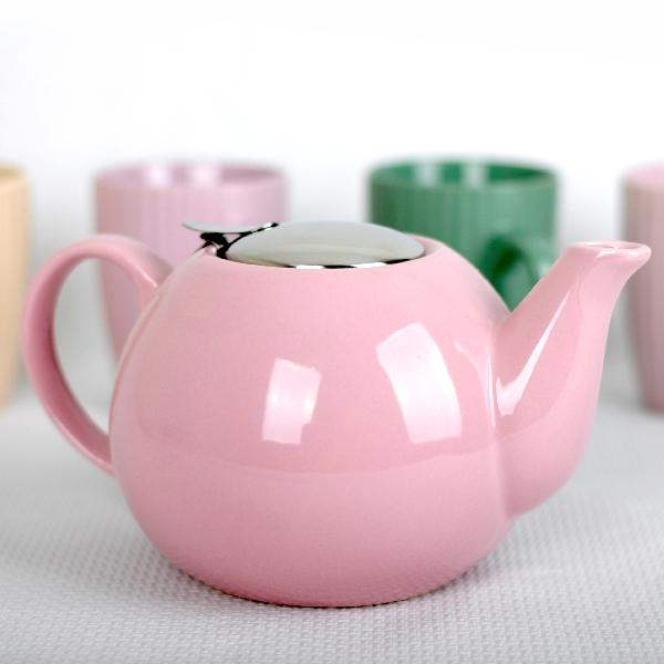 Ceainic cu sită Peterhof, 2.7 Litri, Ceramică, Diverse Culori