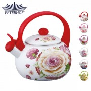 Ceainic din Email cu Flori Peterhof, 2 Litri, Inox, Inducţie