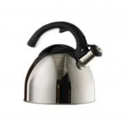 Ceainic din Inox cu Fluier Grunberg, 2.5 Litri, Mâner Bachetlită, Argintiu