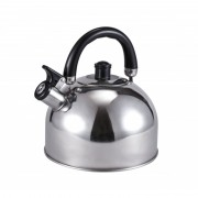 Ceainic din Inox cu Fluier RuyiHoff, 2.5 Litri, Mâner Bachetlită, Argintiu
