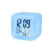 Ceas Cub Digital cu LED Multicolor Budzik Setty, Termometru Digital, Alarmă, Dată