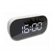 Ceas Digital cu Alarmă DT-6506, Display LED Oglindă, Funcție Snooze, Temperatură, Diverse Culori