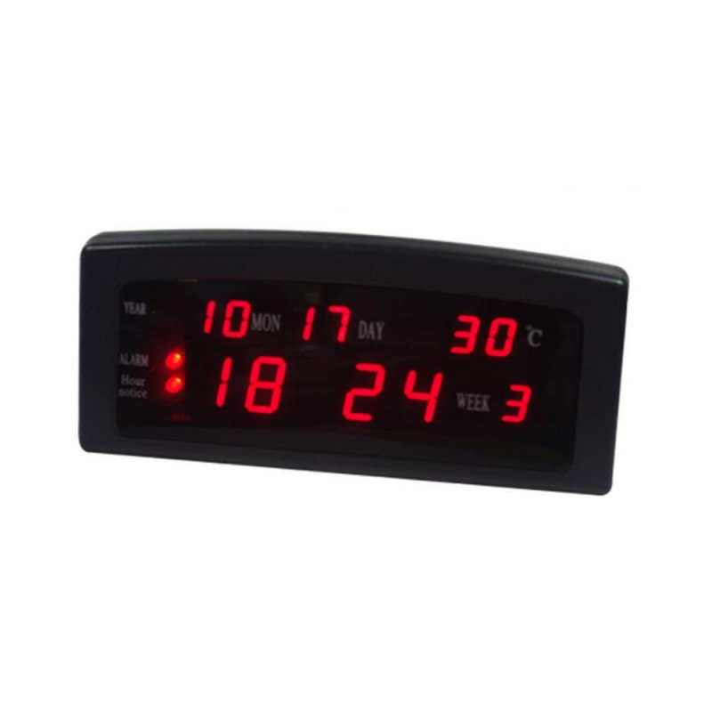 Ceas Digital LED Clock MGZ 909-A, 220 V, Oră, Dată, Alarmă, Termometru, Negru