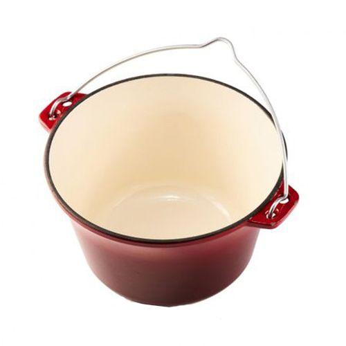 Ceaun din Fontă Emailat 3 Litri Cooking by Heinner, 22 x 13 cm, Roșu