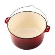 Ceaun din Fontă Emailat 5 Litri Cooking by Heinner, 25 x 14 cm, Roșu