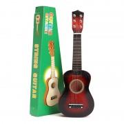 Chitară pentru Copii din Lemn String Guitar, 54 cm, 6 Corzi Metalice, Clasică, Practică, Maro