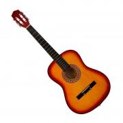 Chitară din Lemn String Guitar, 86 cm, 6 Corzi Metalice, Clasică, Practică, Maro