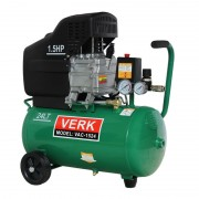 Compresor de Aer Electric Verk VAC-1524, 1100 W, 1.5 CP, 8 Bar, Debit 138 Litri/min, Rezervor 24 Litri