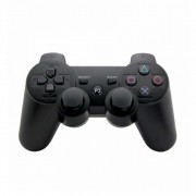 Controller Compatibil Wireless DualShock 3 pentru PlayStation PS3, Double Shock, PC, Negru